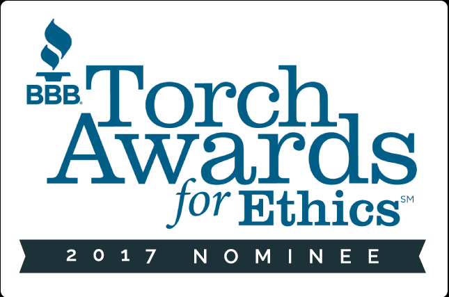 BBB Torch Award for Ethics Nominee Placard 2017